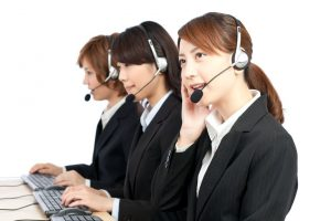 Female call center operators