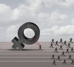 female discrimination illustration