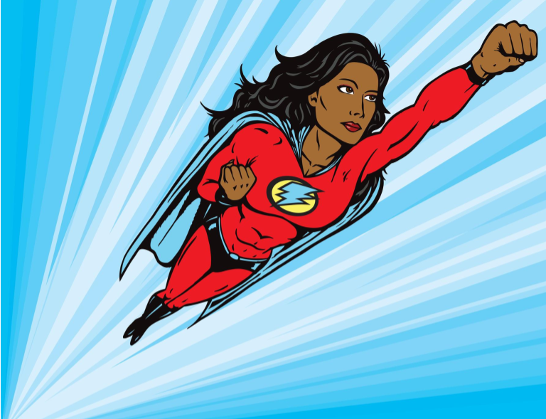 super heroine for faster customer service © Daniel Villeneuve | Dreamstime.com