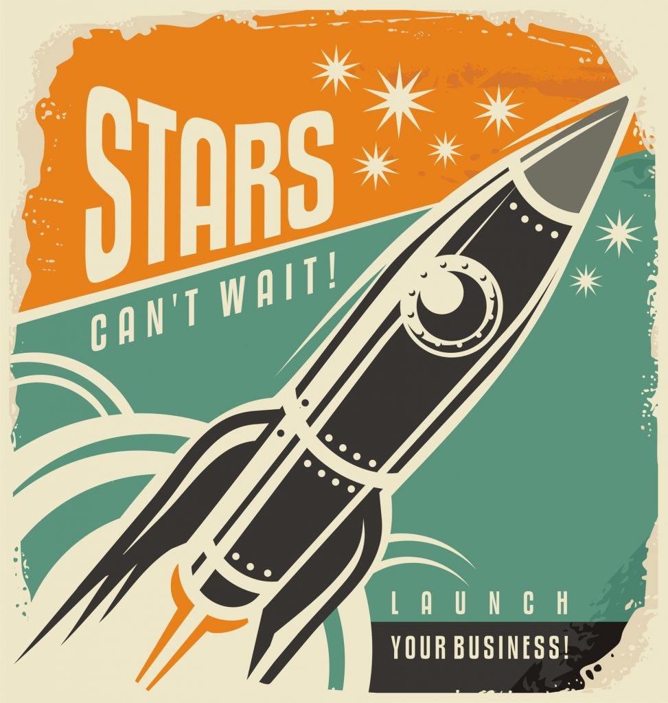 retro rocket image - stars can't wait - ID 62637128 © Lukeruk | Dreamstime.com