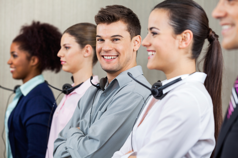 happy Contact center employees