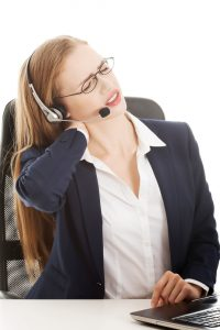 Turnover in call centers because of pain ID 37691756 © Piotr Marcinski | Dreamstime.com