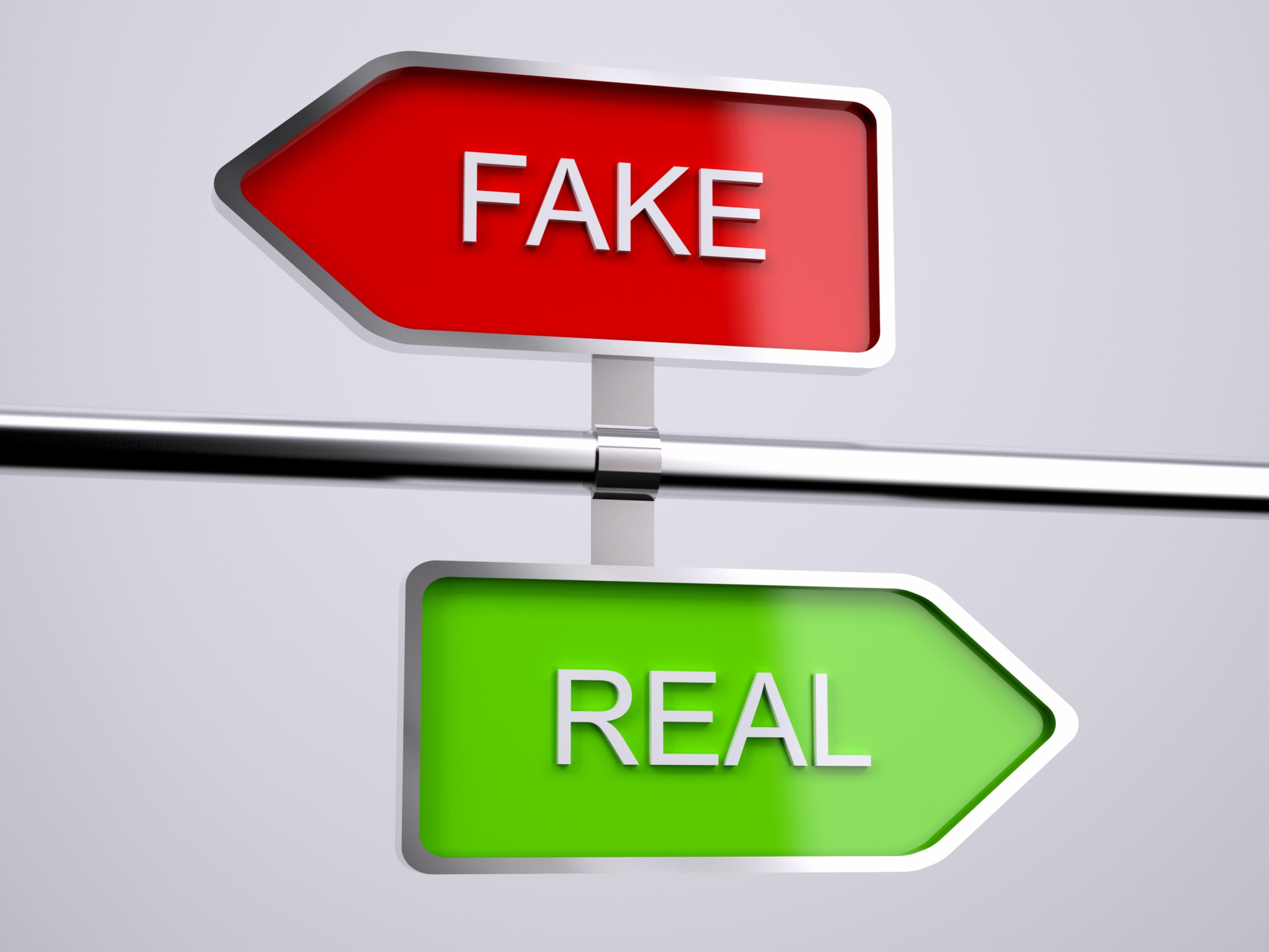 authentic customer relationships - fake vs real ID 86444609 © Fabio Berti