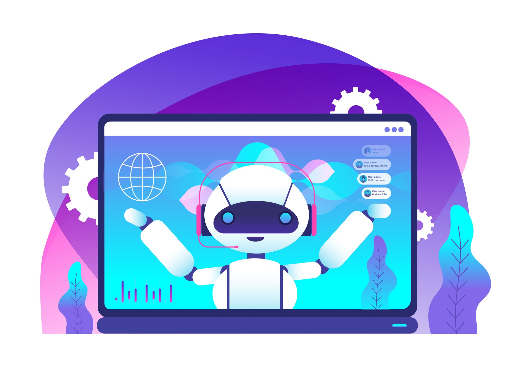 chatbot image AI Illustration 132610258 © Microvone