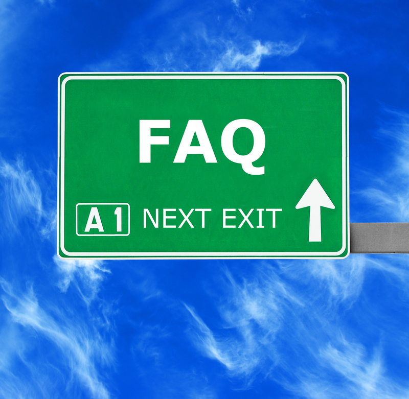 FAQ road sign